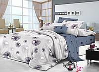 Полуторный комплект постельного белья 150*220 сатин (11356) TM КРИСПОЛ Украина