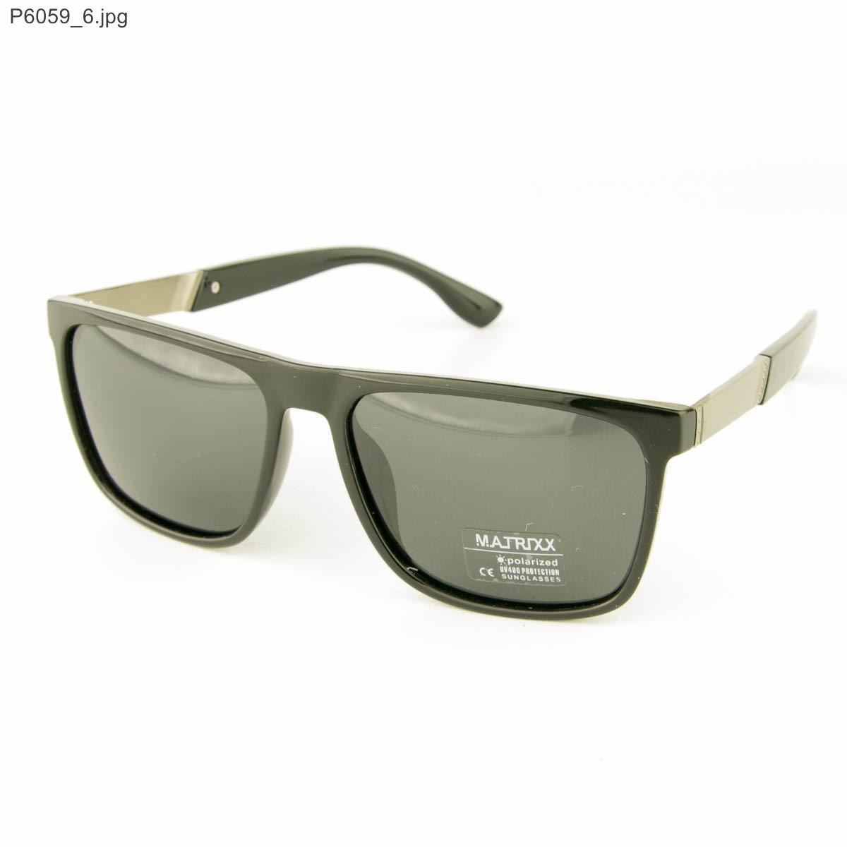 Солнцезащитные мужские очки поляризационные - Черные - P6059, фото 1