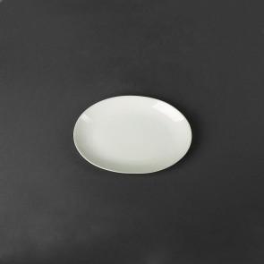 Блюдо белое для ресторанов фарфоровое овальное HLS 200х145 мм (HR1420)