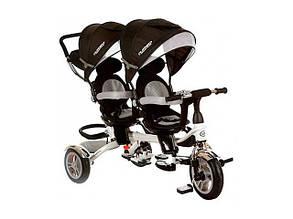 Детский велосипед для двойни Turbo Trike M 3116TW-3A Duos