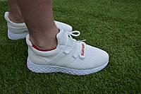Мужские кроссовки Adidas White адидас белые сетка, копия, фото 1