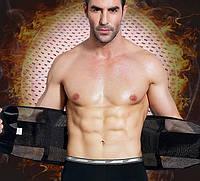 Лечебный мужской пояс-бандаж корректирующий фигуру на липучках, черный, размер XXL