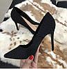 Стильные женские туфельки лодочки в горошек