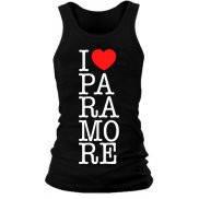 Майка женская (хлопок) летняя с принтом I love Paramore