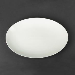 Блюдо фарфоровое белое овальное HoReCa 395х280 мм (HR1422)