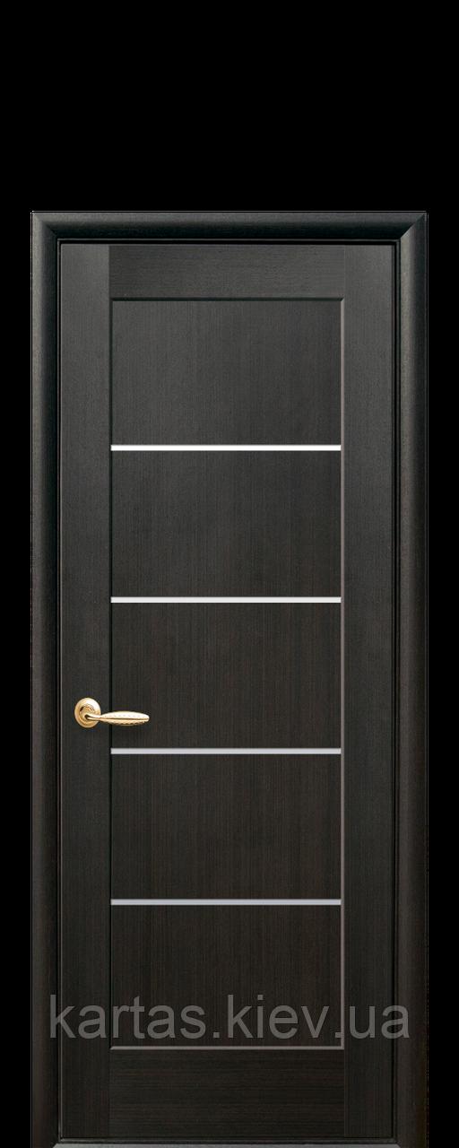 Дверное полотно Мира Венге New со стеклом сатин