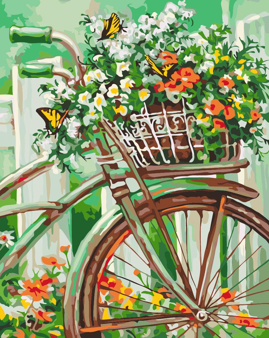 """Картина по номерам """"Цветы прованса"""", 40x50 см., Идейка"""