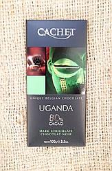 Шоколад черный CACHET Uganda 80% cocoa 100 gramm