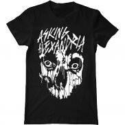 Мужская футболка модная с принтом Asking Alexandria Skull