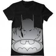 Мужская футболка модная с принтом Бэтмэн серебро