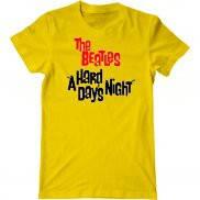 Мужская футболка модная с принтом Beatles - A Hard Days Night