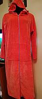 Велюровый халат женский длинный,р. 48-50, хлопок, Турция