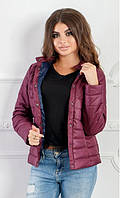 Весенняя женская куртка цвет Бордо