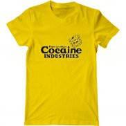 Мужская футболка модная с принтом Кокаиновая индустрия