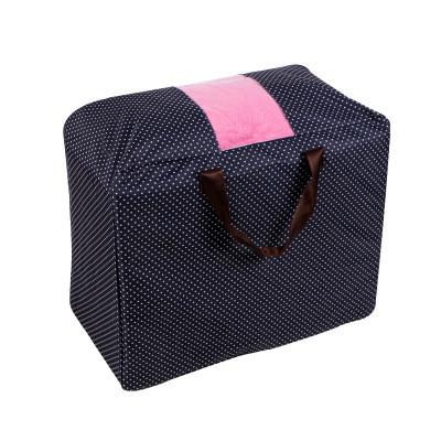 Сумка для одеял оксфорд Genner Home темно синяя в горошек 01098/01