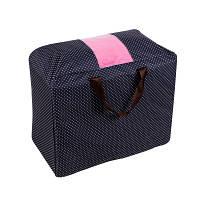 Сумка для одеял оксфорд Genner Home темно синяя в горошек 01098/01, фото 1