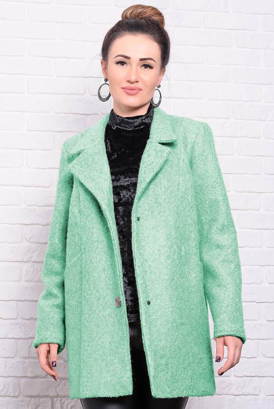 Прямое пальто на подкладке Бониэль, мятное
