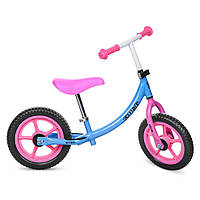 Беговел PROFI KIDS детский 12 д. M 3437-1 (1шт)колеса EVA,пласт.обод,набор наклеек на раму,голубой