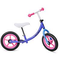 Беговел PROFI KIDS детский 12 д. M 3437-6 (1шт)колеса EVA,пласт.обод,набор наклеек на раму,сиреневый