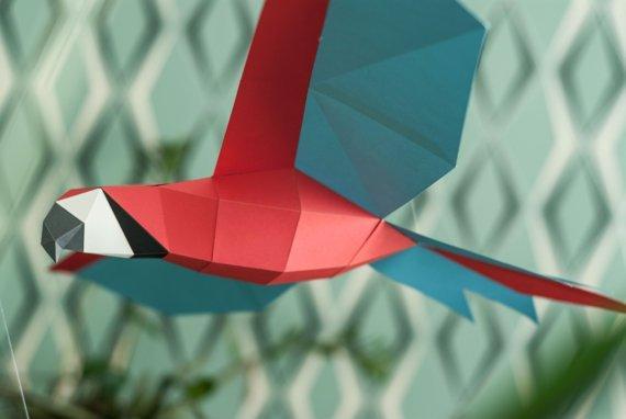 Papercraft Попугай