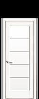 Дверное полотно Мира Белый Матовый со стеклом сатин