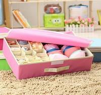 Органайзер для нижнего белья на 15 ячеек+1 отделение розовый 01094/01, фото 1