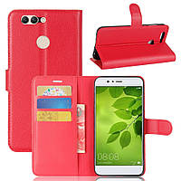 Чехол-книжка Litchie Wallet для Huawei Nova 2 Красный