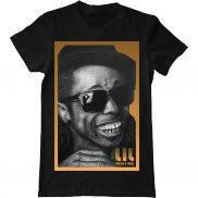 Мужская футболка летняя с принтом Lil Wayne face