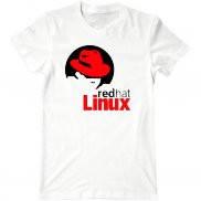 Мужская футболка летняя с принтом Red Hat Linux
