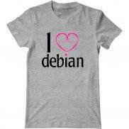 Мужская футболка летняя с принтом  Debian лучший