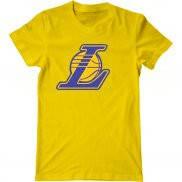 Мужская футболка летняя с принтом Lakers alt logo