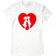 Мужская футболка летняя с принтом Я тебя люблю