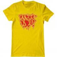 Мужская футболка летняя с принтом Я люблю тебя