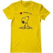 Мужская футболка летняя с принтом Скучаю по тебе