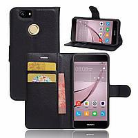 Чехол-книжка Litchie Wallet для Huawei Nova Черный