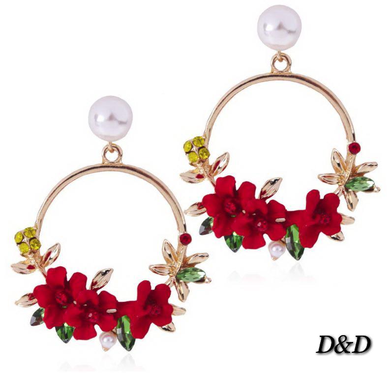 Сережки у стилі Dolce&Gabbana червоні
