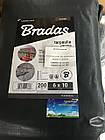 Тент Bradas темно-сірий тарпаулін 200 гр/м2, розмір 4х6м, фото 4