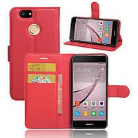 Чехол-книжка Litchie Wallet для Huawei Nova Красный