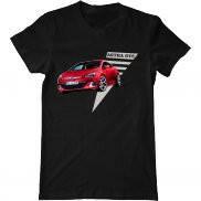 Мужская футболка летняя с принтом Opel Astra GTC