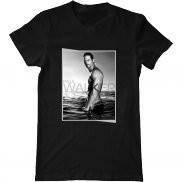 Мужская футболка летняя с принтом Paul Walker