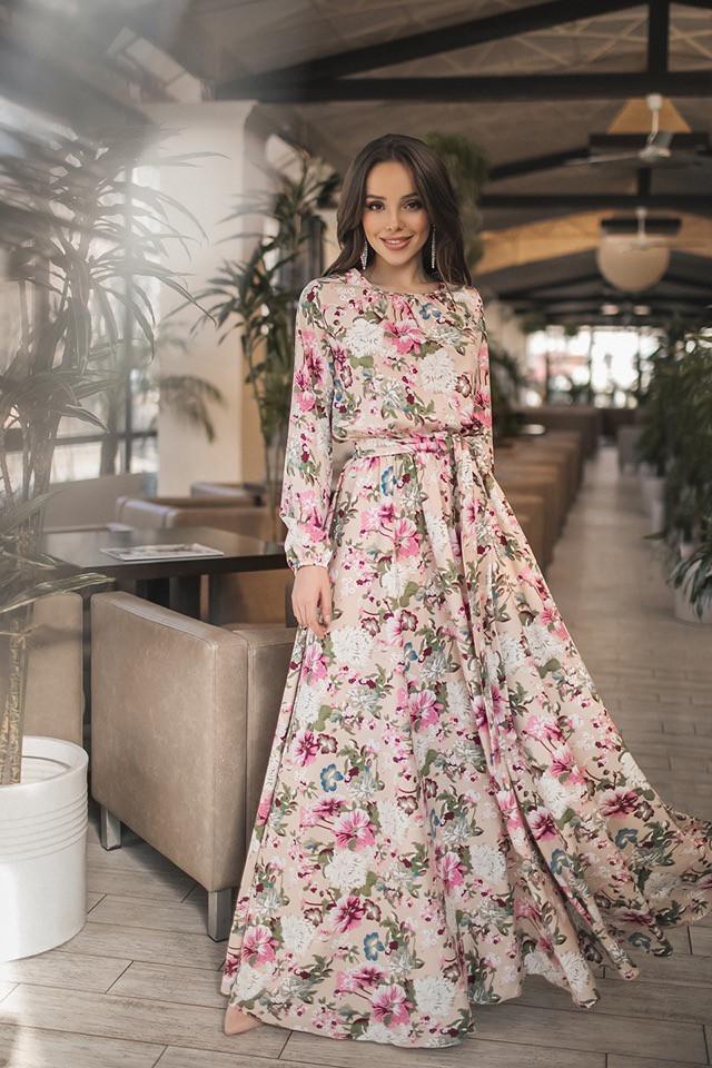 357208122fc Летнее Длинное Платье