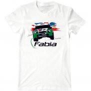 Мужская футболка с принтом Skoda Fabia rally