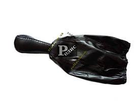 Ручка с чехлом КПП ВАЗ 2108-099, кож.зам (черная)