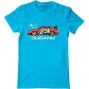 Мужская футболка с принтом Subaru WRX