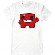 Мужская футболка с принтом Super Meat Boy