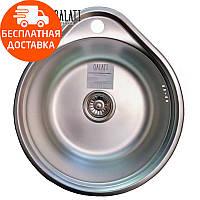 Кухонная мойка стальная Galati Eko Lala Satin 8660 нержавеющая сталь