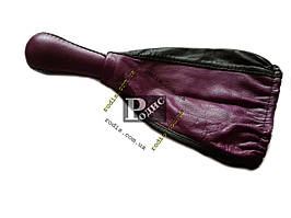 Ручка с чехлом КПП ВАЗ 2108-099, кожа (фиолетовая)
