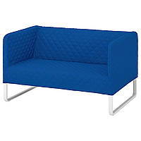 IKEA КНОППАРП 2-местный диван, Knisa ярко-синий, фото 1
