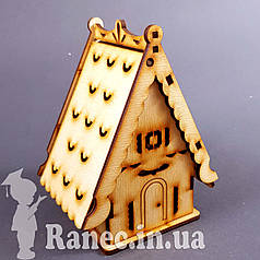 Деревянный домик шкатулка №3