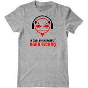 Мужская футболка с принтом Hard Techno